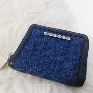 NEW UNUSED Rebecca minkoff denim wallet
